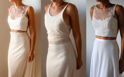 Los 5 Crop top mas modernos para novias Top!